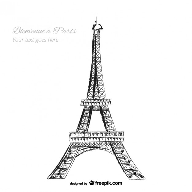 626x626 Eiffel Tower Vector Free Download
