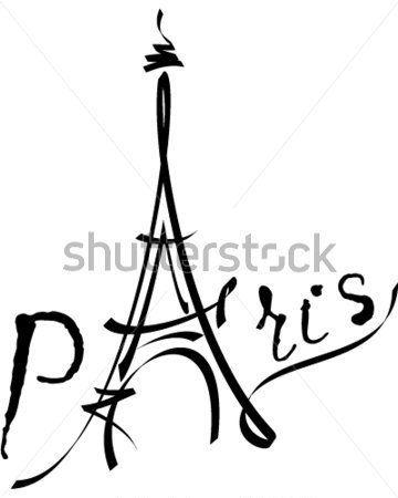 360x450 De Vector Negro Torre Eiffel Vectores En Stock