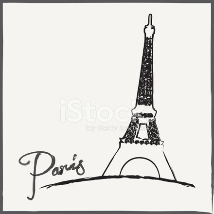 440x440 Torre Eiffel De Stock Vector