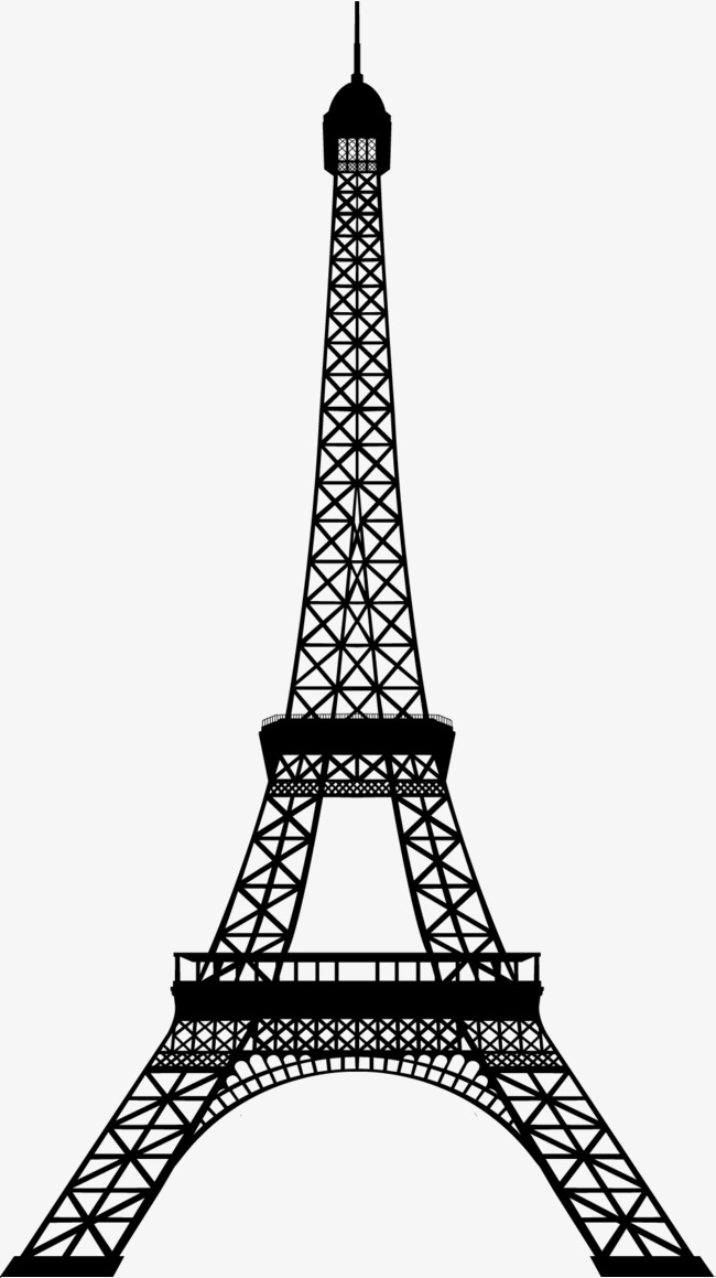 650x1159 Black Tower, Eiffel Tower, Silhouette, Eiffel Tower Png And Vector