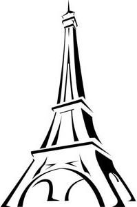 199x300 Torre Eiffel En Francia Arte Vector Dibujo Logotipo Free