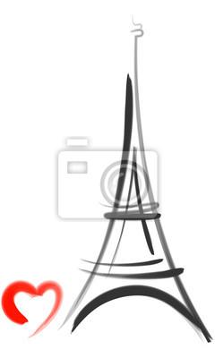240x400 Torre Eiffel Con El Vector Del Vinilos Para