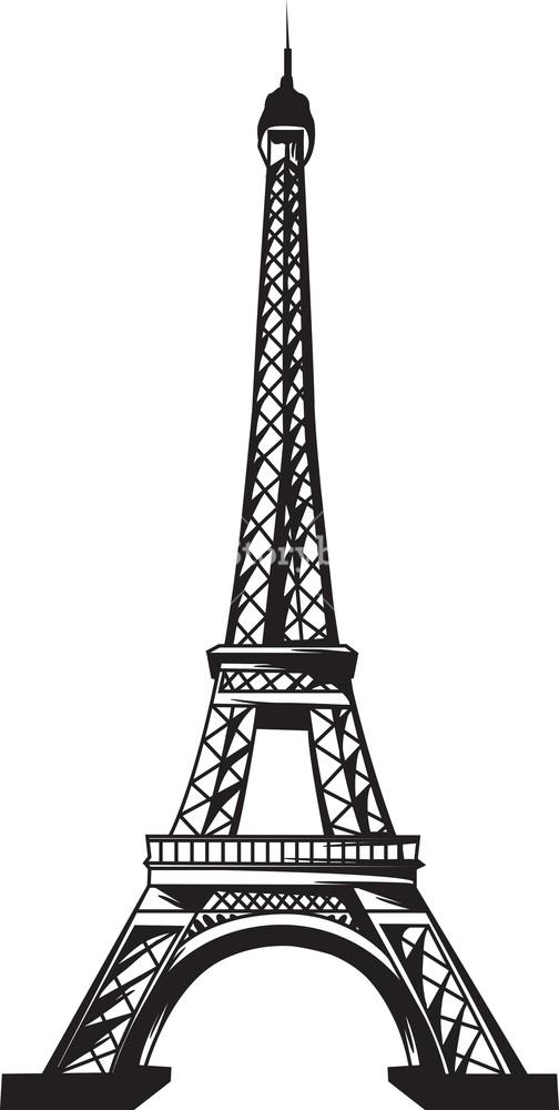 504x1000 Vector Eiffel Tower Imagem De Stock Royalty Free