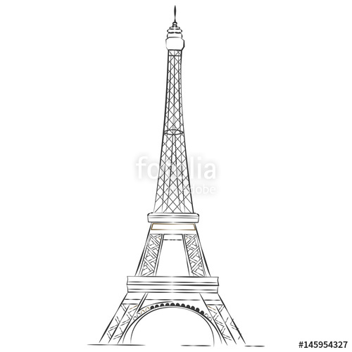 500x500 Torre Eiffel Schizzo Stock Image And Royalty Free Vector Files On