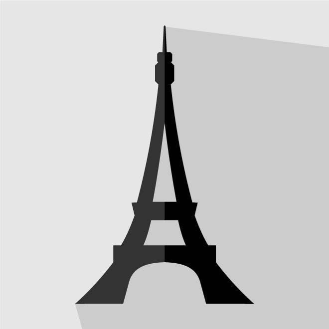 660x660 Eiffel Tower Vector Icon