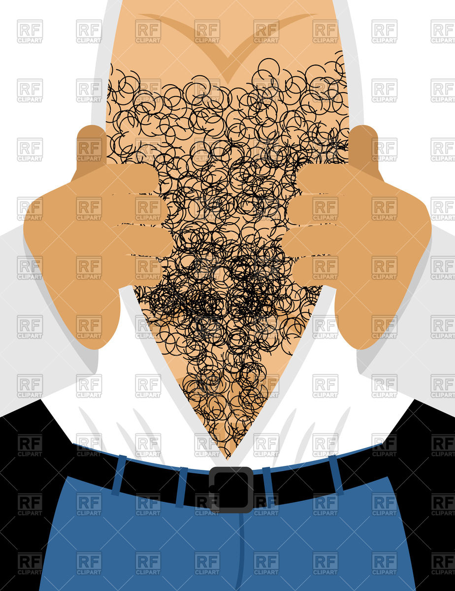 924x1200 Male Hairy Torso. Men Muscular Chest. Vector Image Vector