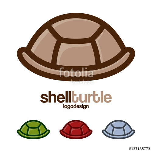 500x500 Shell Turtle Logo Design Vector Stock Image And Royalty Free