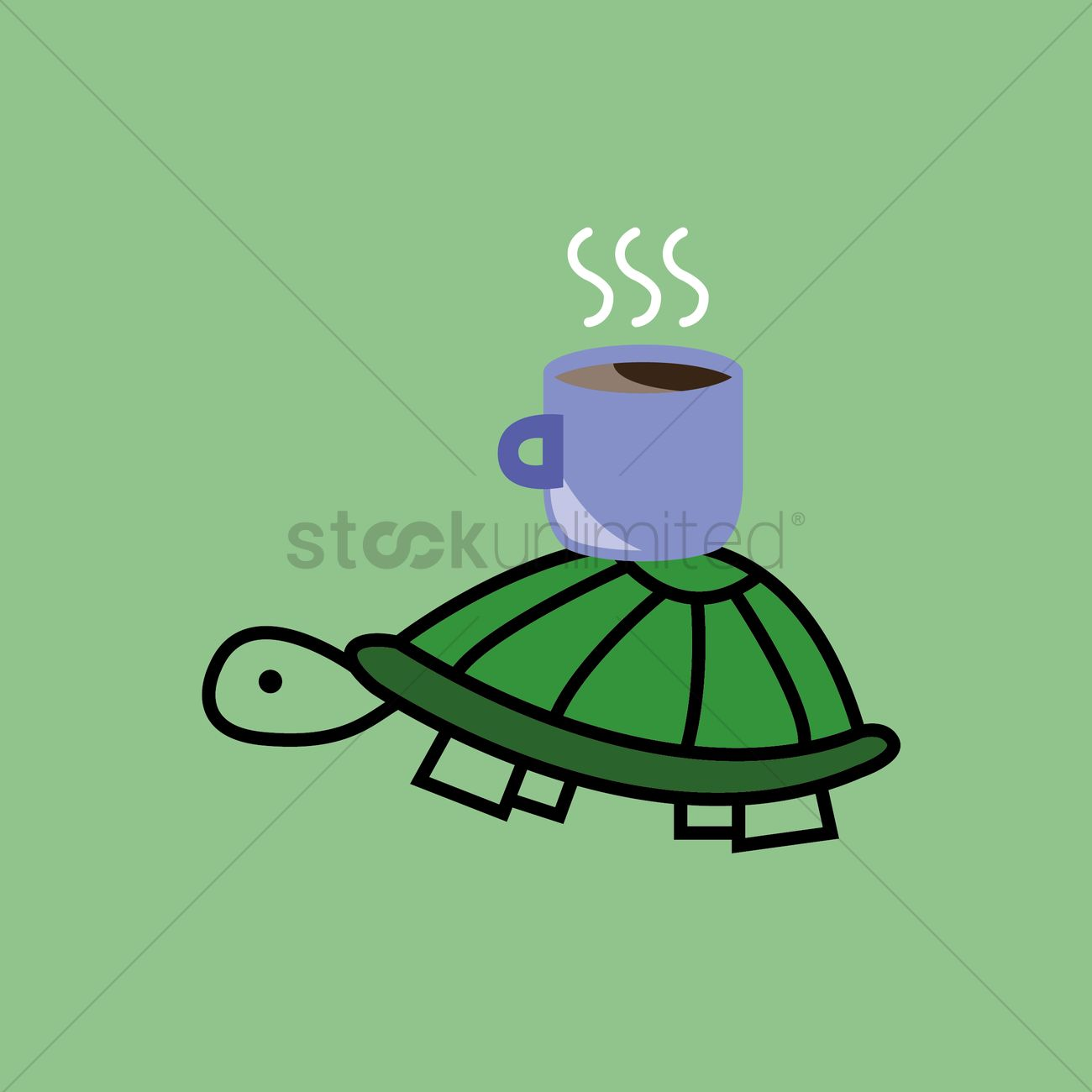 1300x1300 Coffee Cup On Tortoise Shell Vector Image