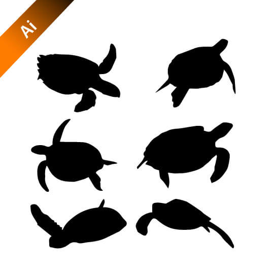 540x540 Tortoise Vector Silhouettes Free Design Template Logo Design