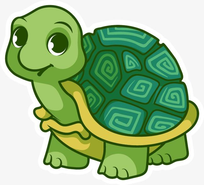 650x591 Vector Cartoon Tortoise, Cartoon Vector, Cartoon Turtle, Painted
