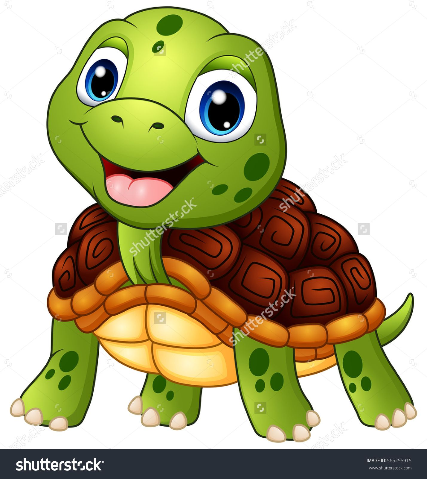 1428x1600 Vector Illustration Of Cute Turtle Cartoon Smiling Tortoise In