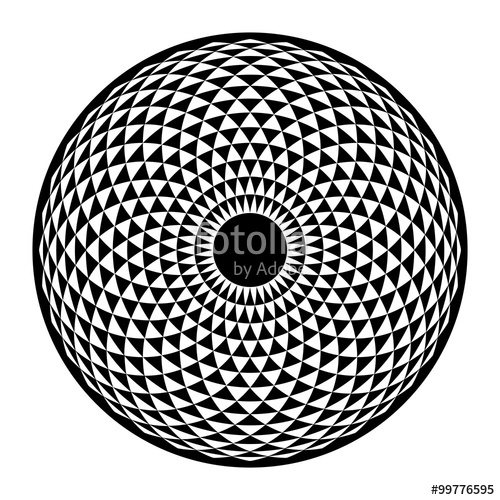 500x500 Torus Yantra, Hypnotic Eye Sacred Geometry Basic Element. Vector