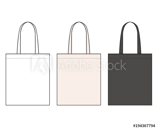 500x413 Eco Bag Vector Illustration Flat Sketches Template