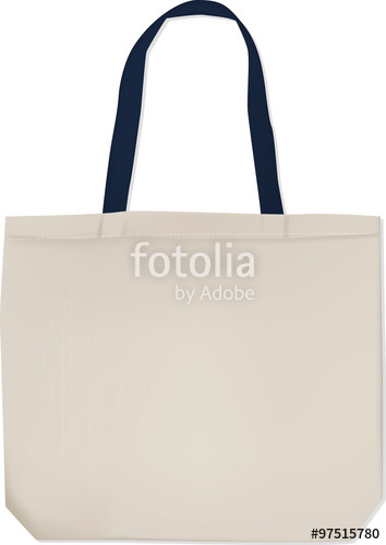 354x500 Realistic White Tote Bag With Black Handles For Your Design
