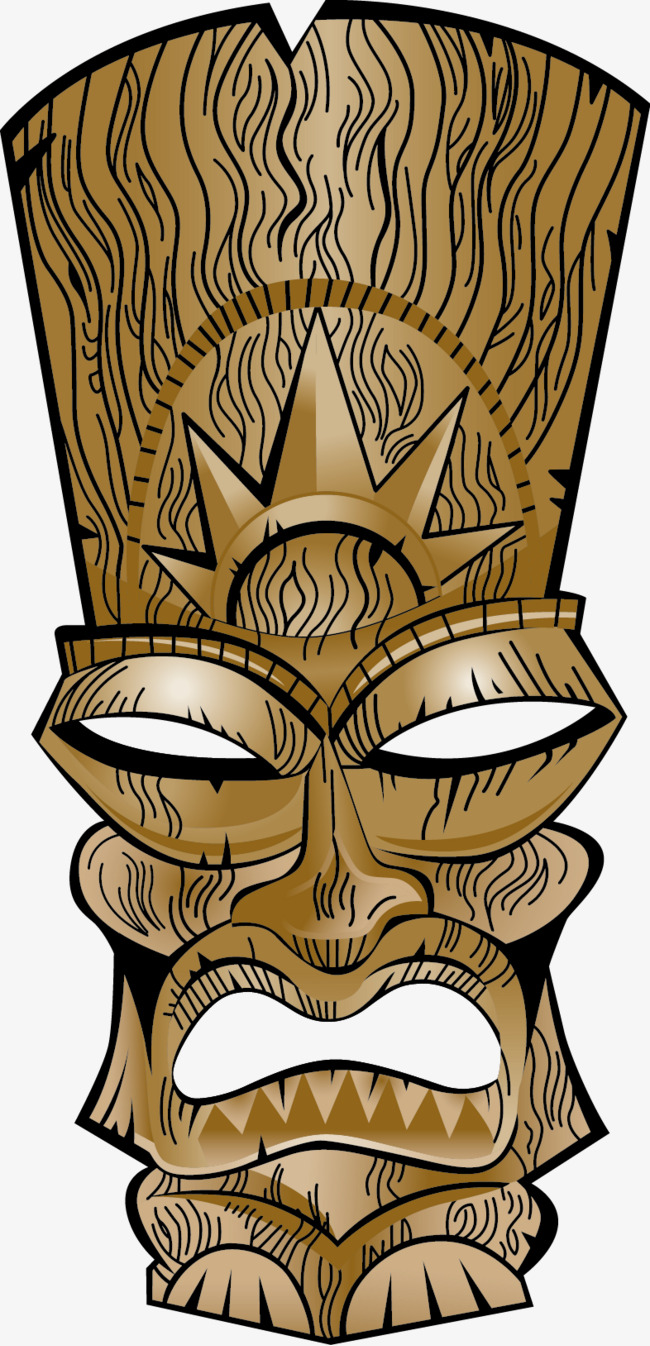 650x1346 Vector Totem Pole, Totem Pole, Vector, Wood Png And Vector For