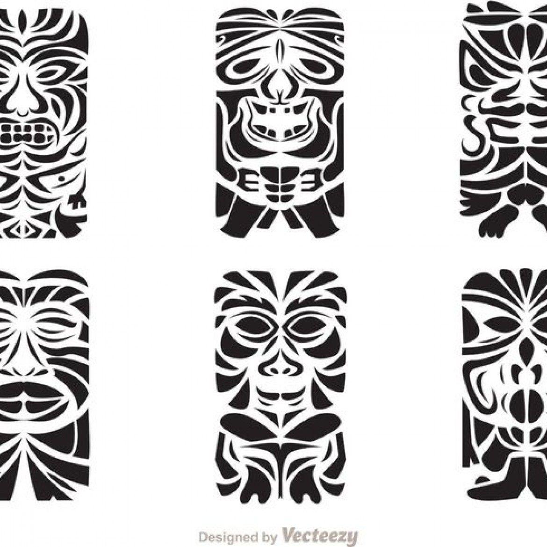 1170x1170 Free Vector Tiki Totem Hawaiian Tribal Vectors