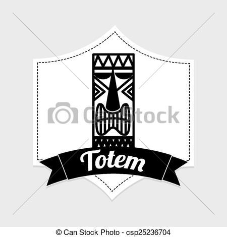 450x470 Hawaii Totem Design, Vector Illustration Eps10 Graphic .
