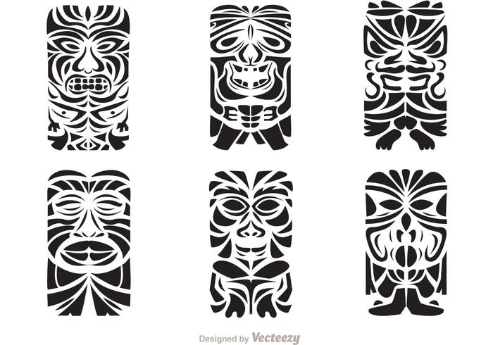 700x490 Tiki Totem Hawaiian Tribal Vectors