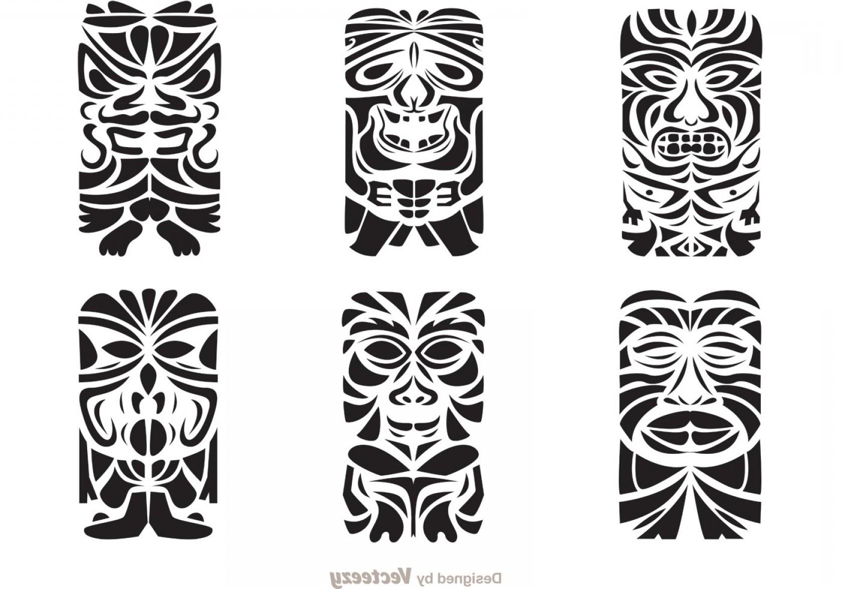 1680x1176 Tiki Totem Hawaiian Tribal Vectors Shopatcloth