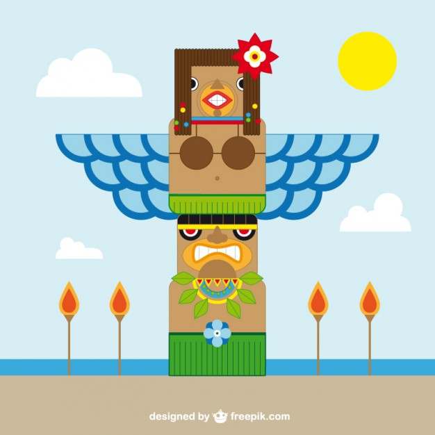 626x626 Totem Pole Vector Free Download