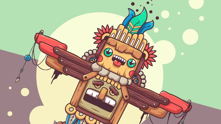 750x422 Useful Techniques For Vector Artists Drawing A Totem (Eng) Udemy