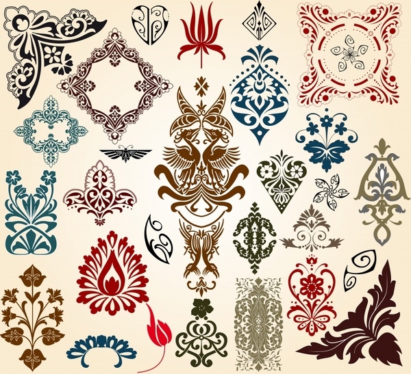 600x547 European Classical Pattern Totem Vector Free Vector In