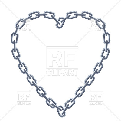400x400 Heart Shaped Silver Chain Frame Vector Image Vector Artwork Of