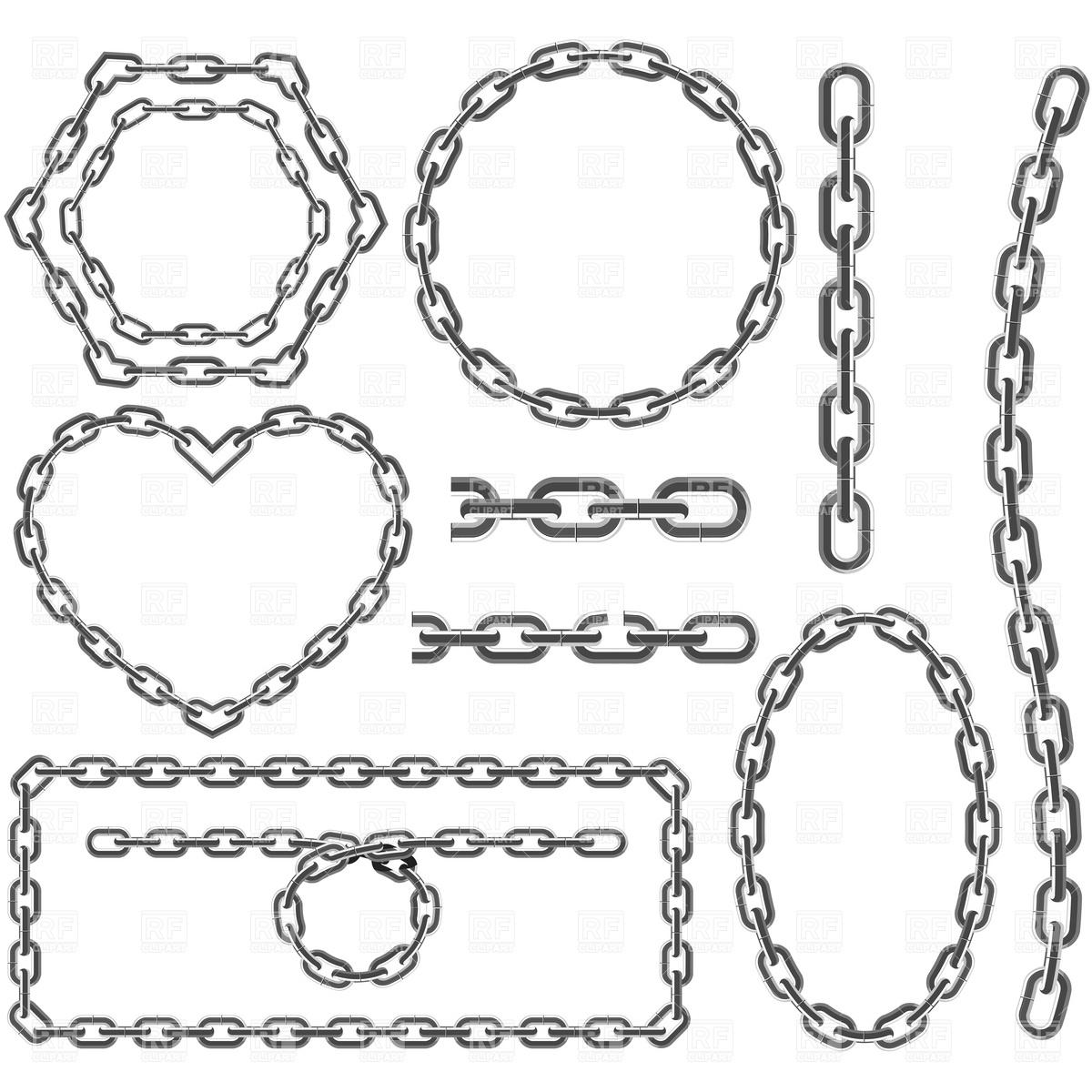 1200x1200 Chain Link Circle Clipart