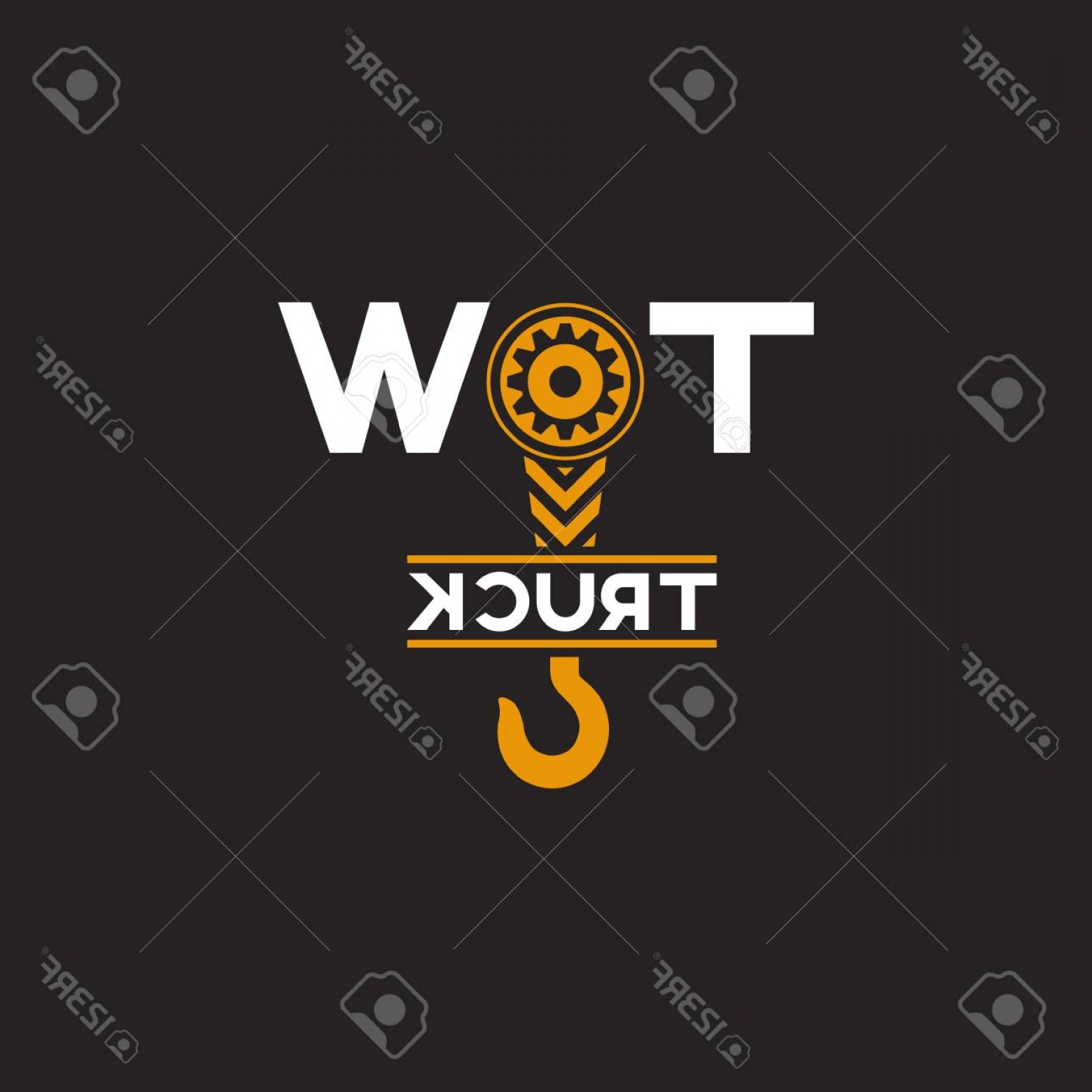 1560x1560 Photostock Vector Tow Truck Icon Wrecker Symbol Towing Hook Round