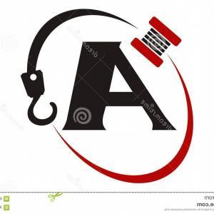 300x300 Stock Illustration Crane Hook Towing Letter Logo Vector
