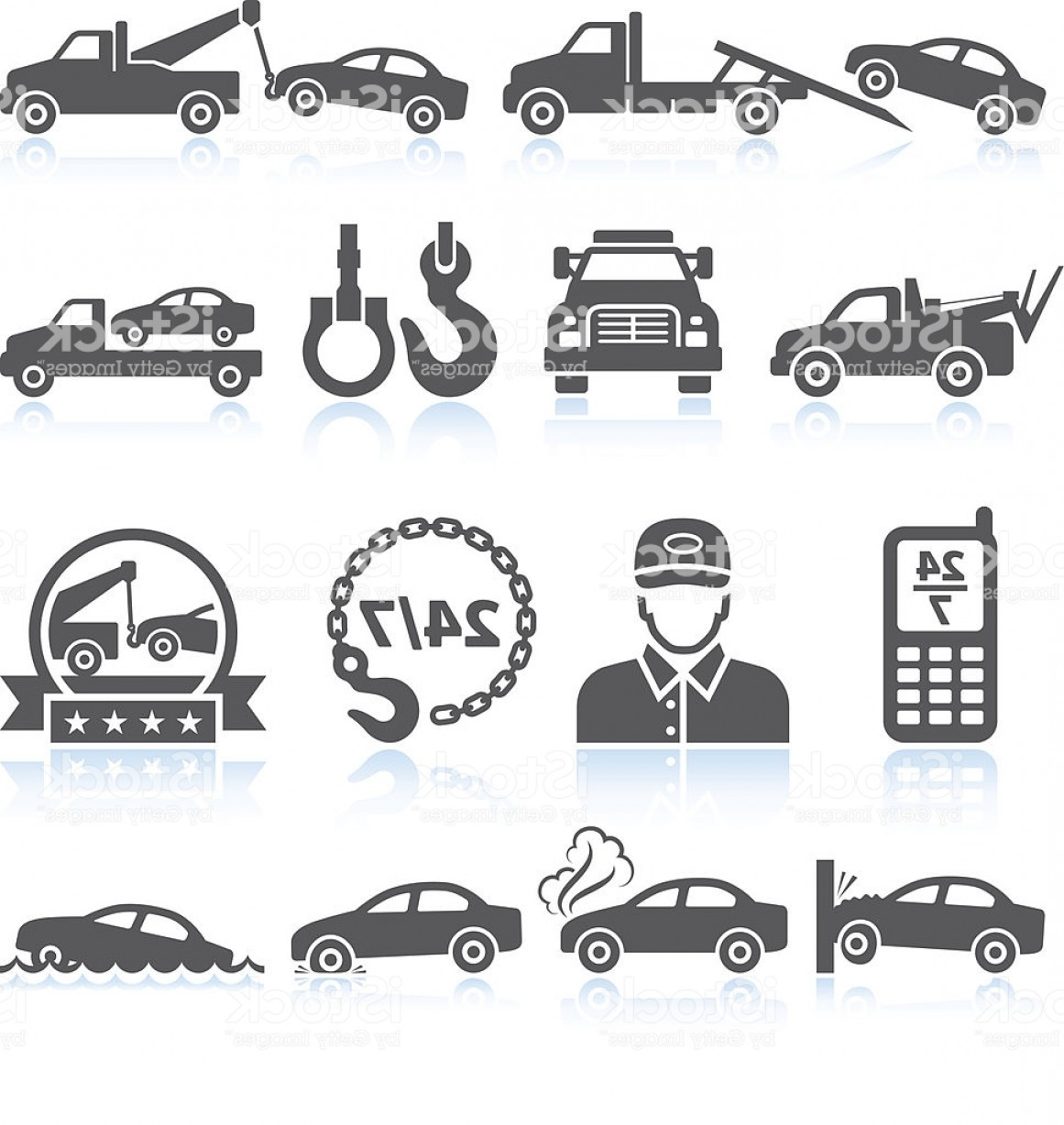 1161x1228 Towing Truck Black White Royalty Free Vector Icon Set Gm Rongholland