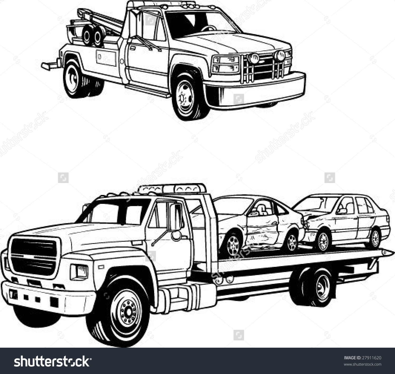 Tow Truck Vector