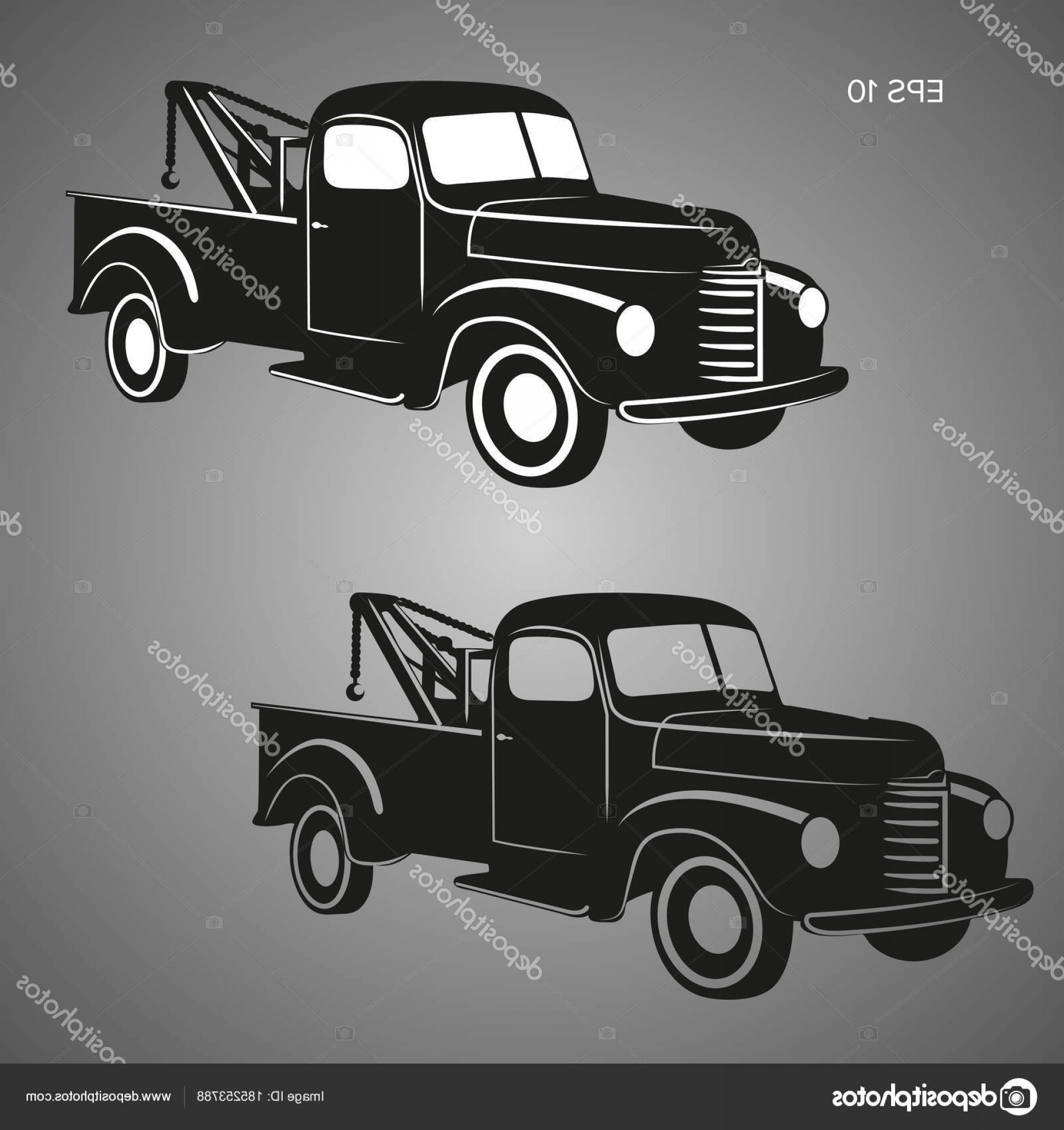 1920x2040 Stock Illustration Old Vintage Tow Truck Vector Rongholland