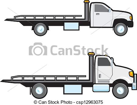 450x345 Tow Trucks. Two Different Types Of Common American Flatbed Tow Trucks.