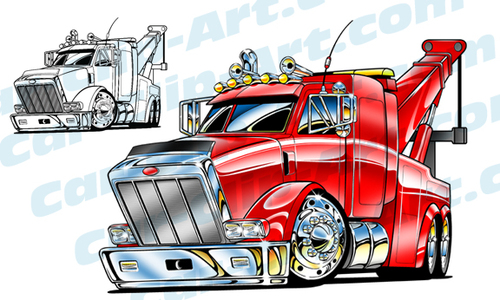 500x300 Big Rig Tow Truck Vector Clip Art Need It I Have It! Hot Rod