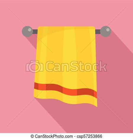 450x470 Bathroom Towel Icon, Flat Style. Bathroom Towel Icon. Flat
