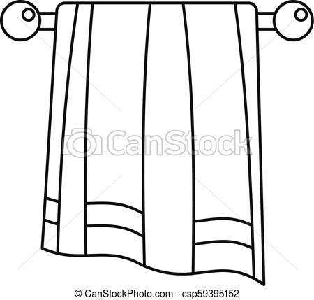450x429 Bathroom Towel Icon, Outline Style. Bathroom Towel Icon. Outline