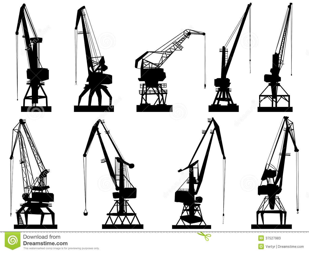 1300x1065 Harbour Crane Clipart