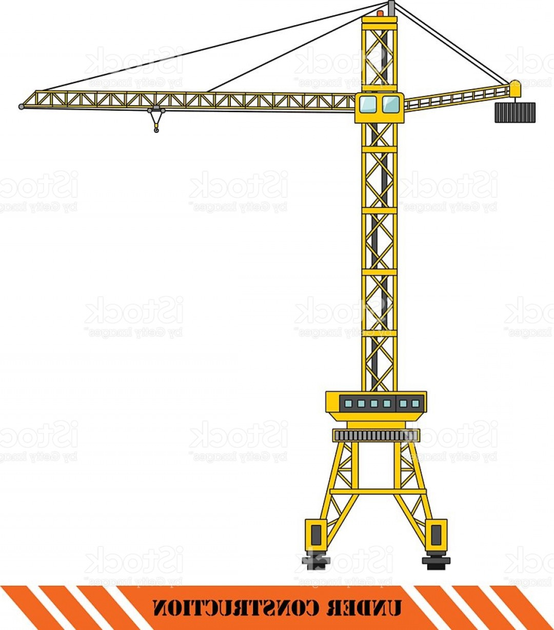 1080x1228 Tower Crane Heavy Construction Machines Vector Illustration Gm