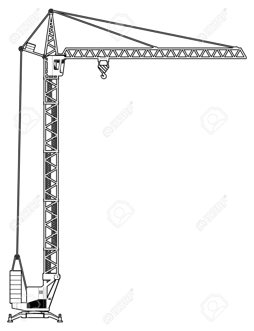 998x1300 Column Crane Clipart