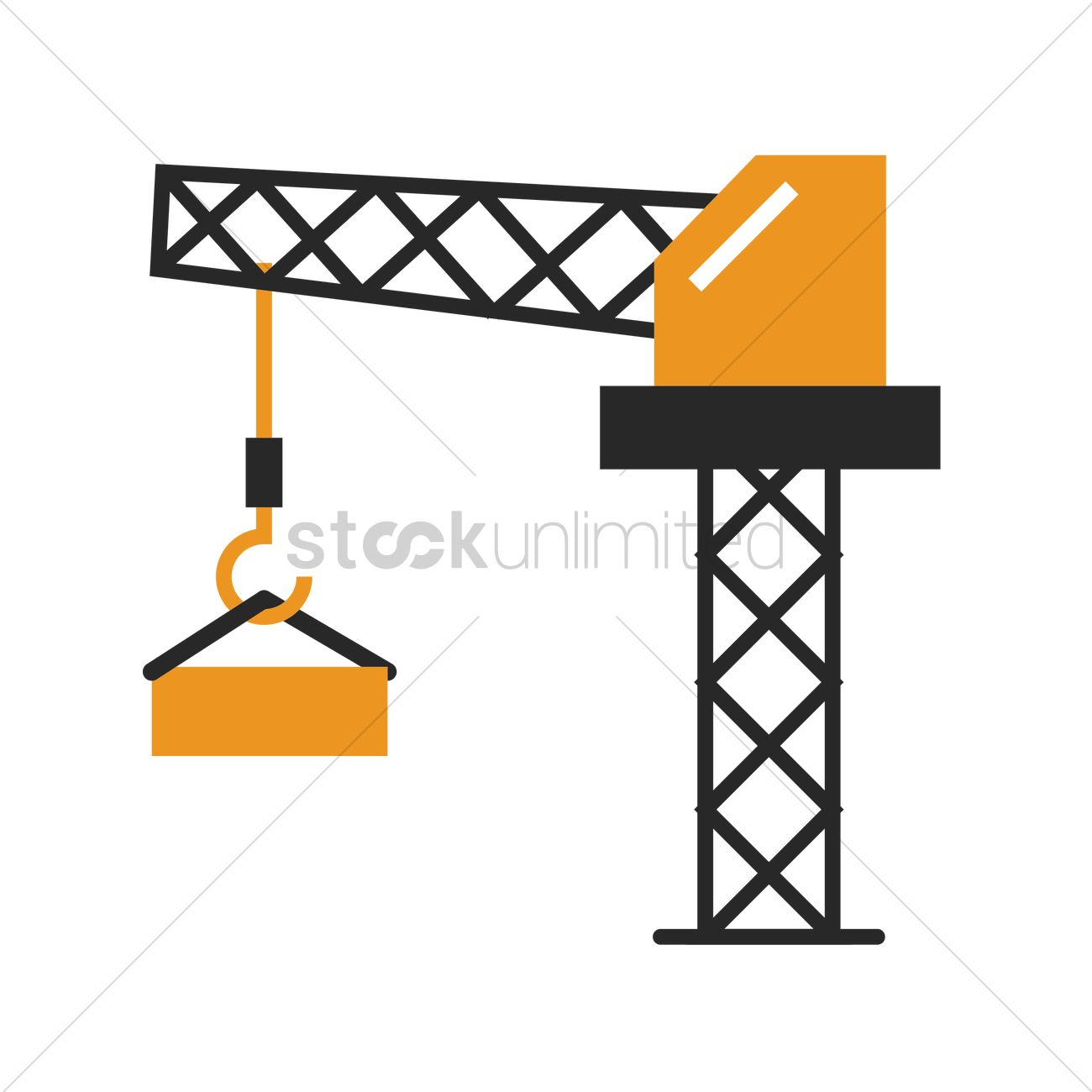 1300x1300 Tower Crane Vector Image