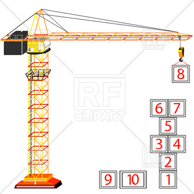 400x400 Tower Crane Vector Image Vector Artwork Of Technology