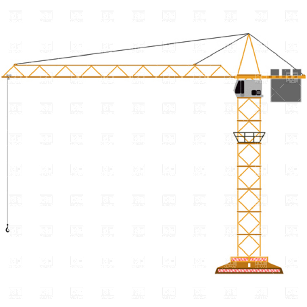1200x1200 Tower Crane Clipart