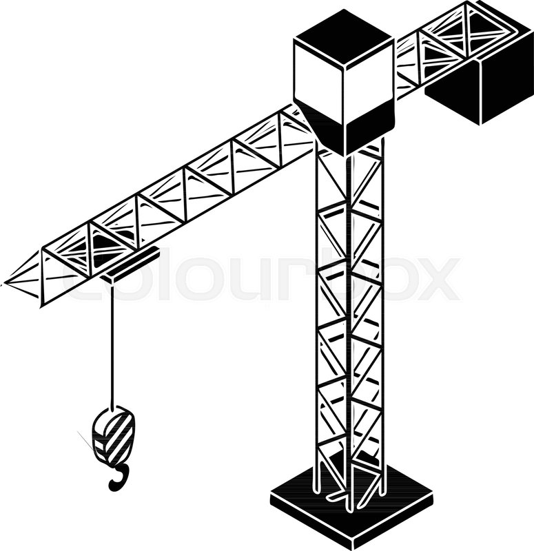 775x800 Tower Crane Icon. Simple Illustration Of Tower Crane Vector Icon