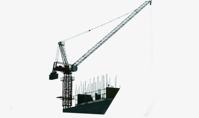 650x386 Crane (Building Crane, Tower Crane) Vector Illustration