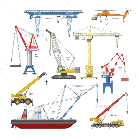 590x590 Crane Vector Tower Crane And Industrial Building By Pantimetrok