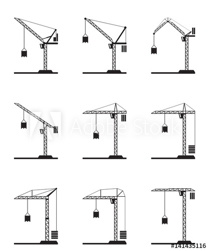 417x500 Different Tower Cranes
