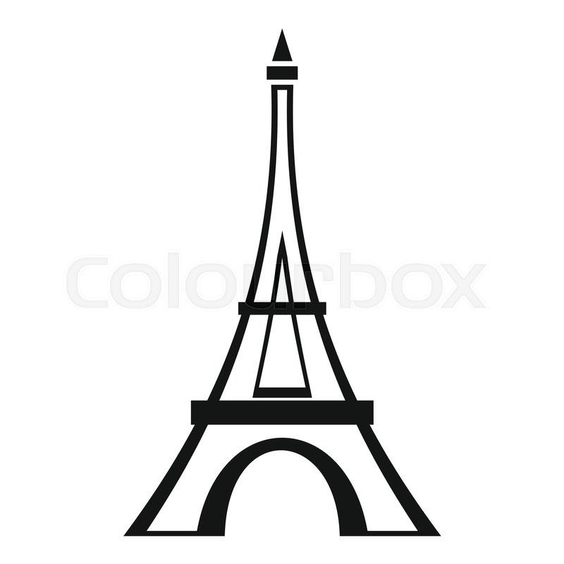 800x800 Eiffel Tower Icon. Simple Illustration Of Eiffel Tower Vector Icon