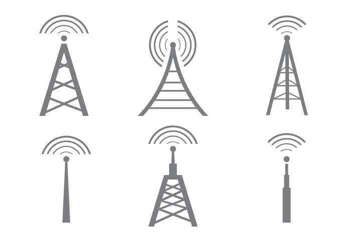 700x490 Vector Cell Tower Icons