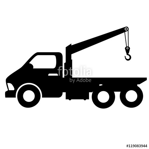 500x500 Car Towing Truck Tow Service Vehicle Silhouette Vector